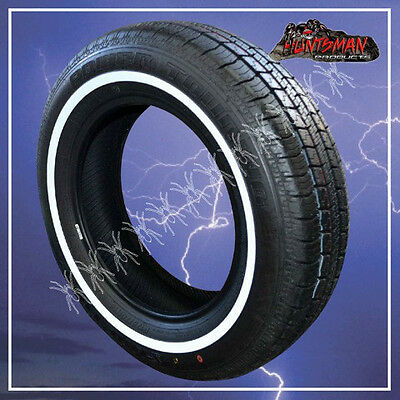 """13"""" WHITEWALL 155 80 13 SURETRAC TYRES 17MM LINE 155/80x13 WHITE WALL 13"""""""