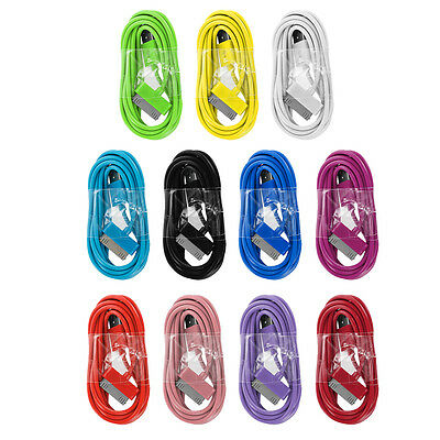 6FT Color USB Data Cable Sync Cord Charger for iPod Touch iPhone 4 4G 4S 3GS 2G