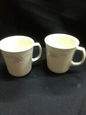 Vintage corning mugs set of 2 These Are Beige In Color Not Bright White#34