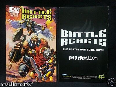 SDCC Comic Con 2012 EXCLUSIVE IDW Battle Beasts mini comic ASHCAN edition