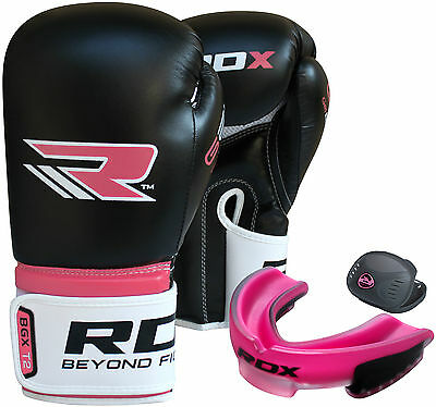 RDX Ladies Boxing Gloves Fight Womens Bag Mouth guard Gum Shield & Mouth Guard P