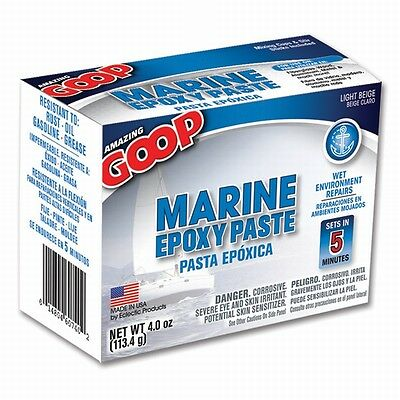Eclectic Products 5300031 4 oz. Amazing GOOP Marine Epoxy Paste, Light Beige