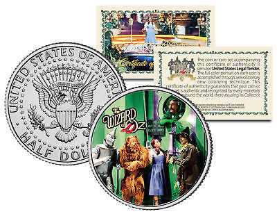 "WIZARD OF OZ ""The Gatekeeper"" Colorized JFK Kennedy Half Dollar US Coin LICENSED"