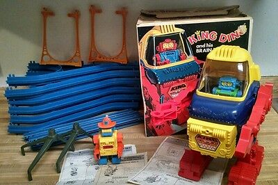 1971 Topper Toys, King Ding and His Brain Robot with the Super Pyramid Set
