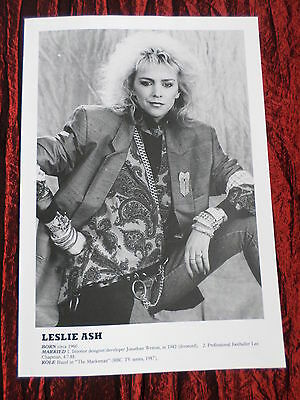 Leslie Ash - Film Star - 1 Page  Picture- Clipping/cutting