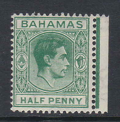 BAHAMAS 1938-52 ½d MYRTLE-GREEN WITH ELONGATED 'E' SG 149da MINT.