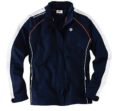 Genuine Vw Motorsport Collection Mens Blue Zipped Sweat Jacket