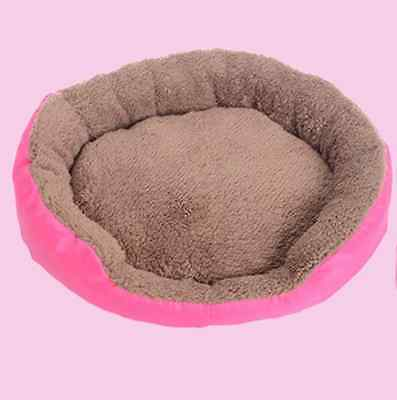 Rose Red Dog Puppy Cat Pet Nesting Bed Mat Cozy Warm Size L