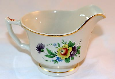 Syracuse China Old Ivory Selma Gold Rimmed Creamer OPCO Made in America