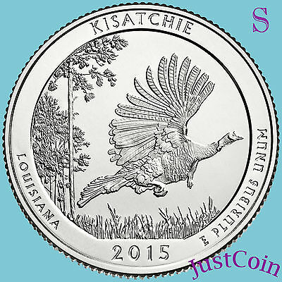 2015-S Kisatchie National Forest (La) Quarter From U.s.mint Rolls Uncirculated