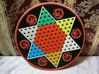 Ohio Art Tin Chinese Checkers Vintage Game Board    No pieces   Board only