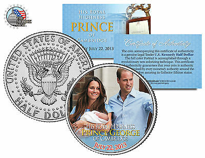 ROYAL BABY *Prince George of Cambridge* William & Kate JFK Half Dollar US Coin