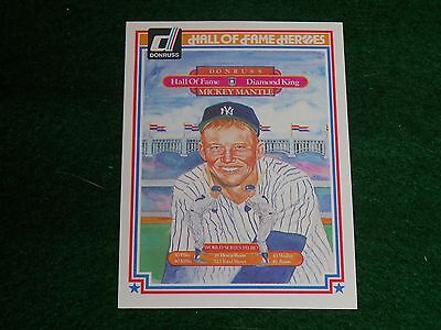 """mickey mantle  (new york yankees-of) 1983 donruss """"hall-of-fame heroes"""" CARD #43"""
