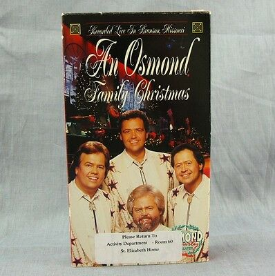 An Osmond Family Christmas VHS Branson Video 1993 Holiday Magic Concert Brothers