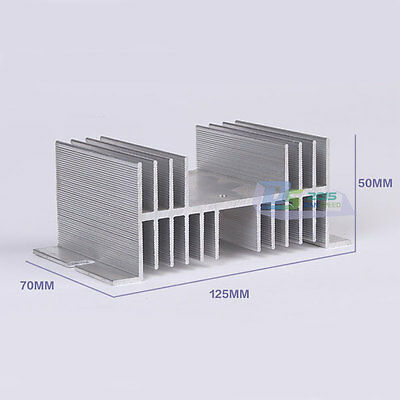 Aluminum Alloy Heat Sink For Solid State Relay SSR Up to 40A Heat Dissipation