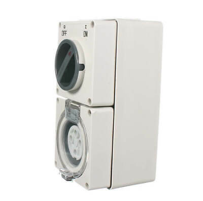Industrial 3 PHASE Switched Socket Outlet 4 PIN 10 Amp 10A