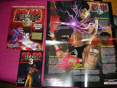Tekken 3 w/ Memory Card Stickers, Poster and pocket guide Sony Playstation 1