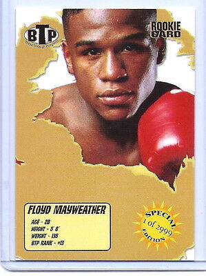 """Floyd Mayweather Jr 2005 """"special Edition 1 Of 2999"""" Rookie Card! Boxing Legend!"""