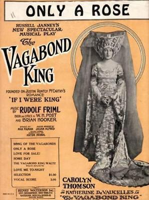 Only A Rose, The Vagabond King, Carolyn Thomson, 1925