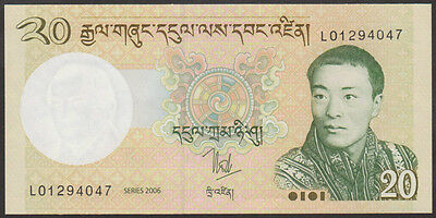 BHUTAN  -  20  NGULTRUM   2006   P  30   Uncirculated Banknotes