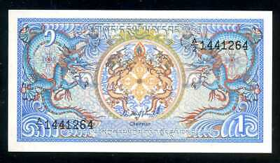 BHUTAN  -  1 NGULTRUM  1986   -  P 12a  LOT 5 PCS    Uncirculated Banknotes