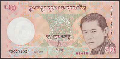 BHUTAN   50  NGULTRUM  2008   P. 31 a  LOT 5  PCS  Uncirculated Banknotes