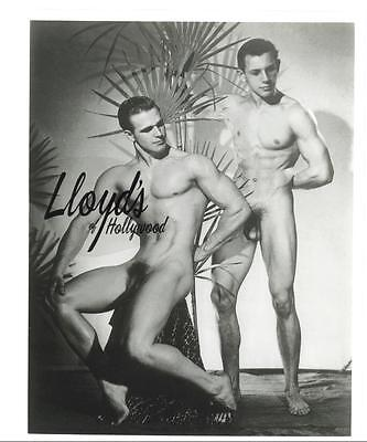 VIC SEIPKE BODYBUILDER BEEFCAKE DUO FULL FRONTAL MALE  NUDE PHOTOGRAPH  1949