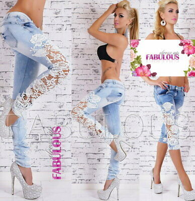Womens Slim Fit Skinny Leg Jeans Light Blue Denim Size 10 12 14 6 8 XS S M L XL