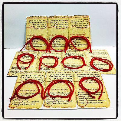 20 Pcs Kabbalah Red String Bracelets Against Evil Eye + 20 Ben Porat Prayer Lot