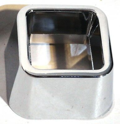 signal warning light trims(2) square chrome plastic for Kenworth 1982-2001
