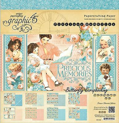 Baby Precious Memories Collection 12X12 Scrapbooking Paper Pad Graphic 45 NEW