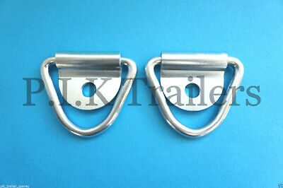2 x Tie Down Lashing Rings & Cleat for Trailers Horsbox  #5589