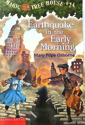 Children Chapter Book: Magic Tree House #24 Earthquake in the Early Morning