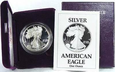 1990 S Proof Silver American Eagle Dollar 1oz Coin US Mint