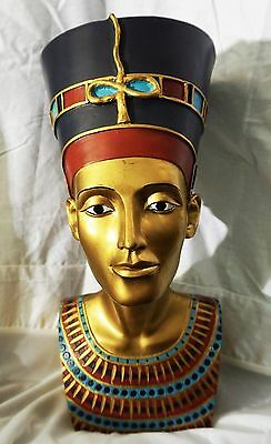 LARGE Heavy EGYPTIAN Collectible Head King Tut Pharaoh Anubis Great condition!