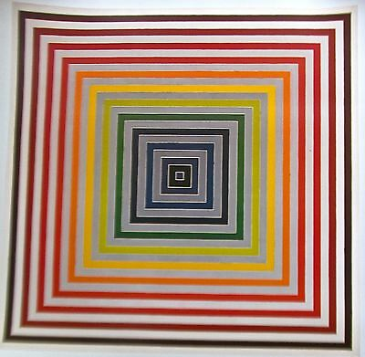 """FRANK STELLA: """" LETTER TO THE BLIND II""""  GEOMETRICAL SQUARES +PRIORITY SHIPPING"""