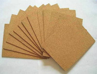 CORK SHEET, 300 mm X 300 mm, CHOOSE THICKNESS - PACK OF 6