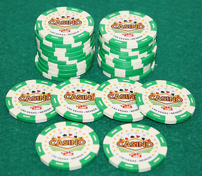 $25 Pro Vegas Casino Chips *Super High Quality* Poker Chip 11.5 Grams (QTY: 25)