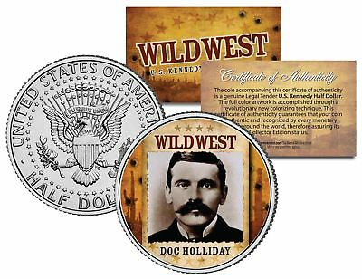 DOC HOLLIDAY * Wild West Series * JFK Half Dollar Coin US Poker Card Guard Cover