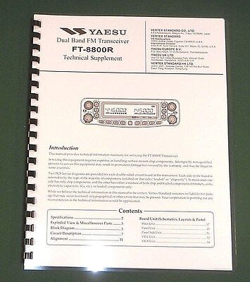 "Yaesu FT-8800R Service Manual With full set of 11""X17"" Foldouts & Plastic Covers"