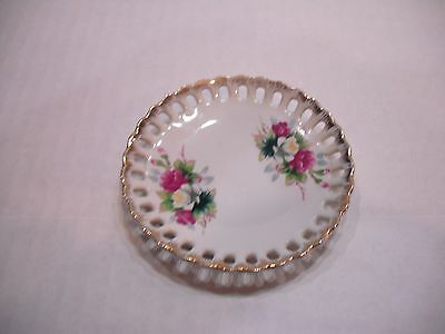 Small 3.5 inch Porcelain Decorative Ceramic Flower Dish