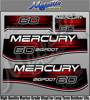 MERCURY - 60hp BIGFOOT - OUTBOARD DECALS