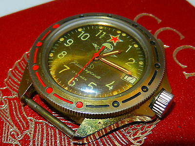 1000% OLD ORIGINAL!!! VTG Russian Soviet VOSTOK WATCH KOMANDIRSKIE СССР military