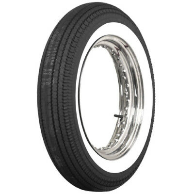 """500-16 COKER MOTORCYCLE DBL 2"""" WHITEWALL TIRE 130/90&140/90-16 eqiv."""