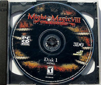 Might and Magic VIII 8 Day of the Destroyer PC Windows Game 2000