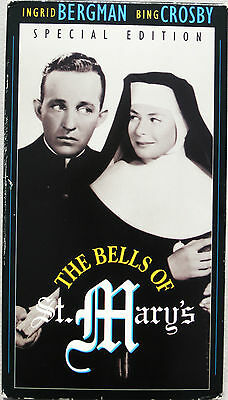 1945 THE BELLS OF ST MARY'S Special Edition, Ingrid Bergman, Bing Crosby B&W VHS