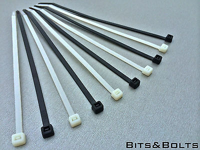 High Quality Black or White Nylon Plastic Cable Ties Zip Tie Wraps 100mm-370mm