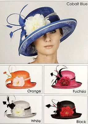 New Woman Church Derby Wedding Sinamay Ascot Dress Hat SDL-004