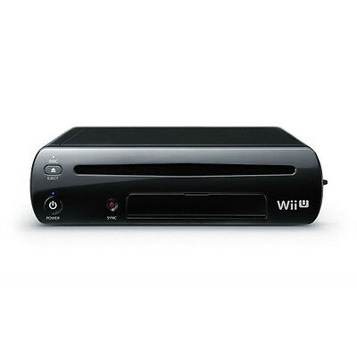 New Nintendo Wii U Black 32GB Deluxe System OEM Replacement Console Only