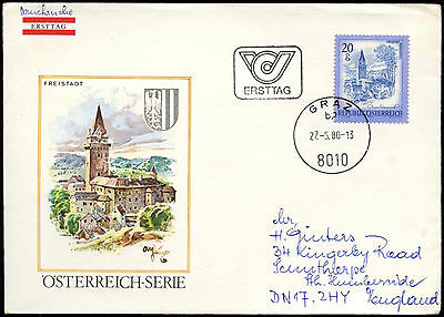 Austria 1980, 20g Definitive FDC First Day Cover #C17756